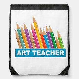 Art Teacher Drawstring Bag