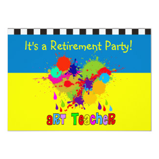Art Teacher Retirement Party Invitations