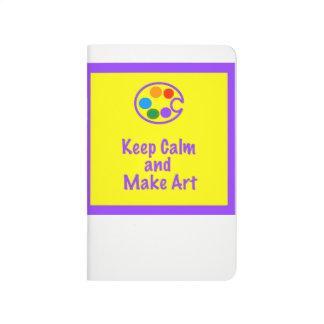 Art Teacher Sketchbook - Keep Calm and Make Art 2 Journal