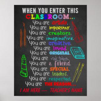 Art Teacher - When You Enter This Classroom Rules Poster
