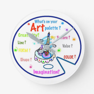 Art Teachers Art Palette  Clock