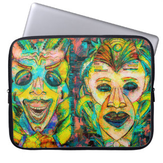 ART TIKI MASKS TROPICAL LAPTOP SLEEVE
