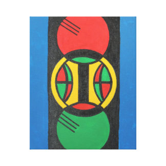"Art ""Traffic Light Confusion"" Stretched Canvas Prints"