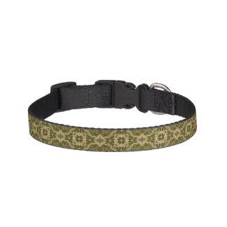 Art vintage damask pattern pet collar