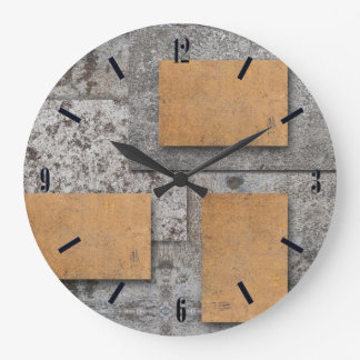 Art with Concrete, abstract wall clock