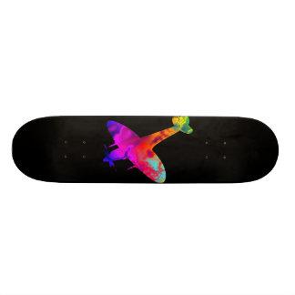 artdeck 5, spitfire black template skateboard deck