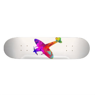artdeck 5, spitfire white template custom skate board