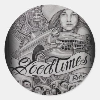 arte round sticker