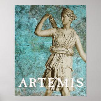 Artemis Greek Goddess Poster