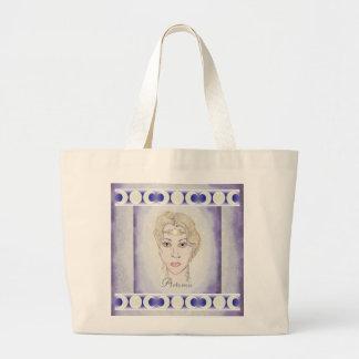 Artemis Moon Goddess Large Tote Bag