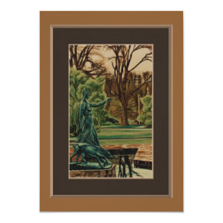 Artemis Sculpture In Gardens Card