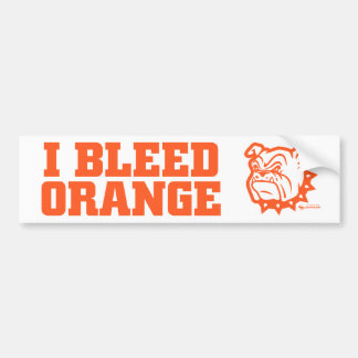 "Artesia ""I Bleed Orange"" Bumper Sticker"