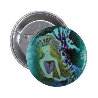 ARTful Fairy Tales Mermaid and SeaHorse Button