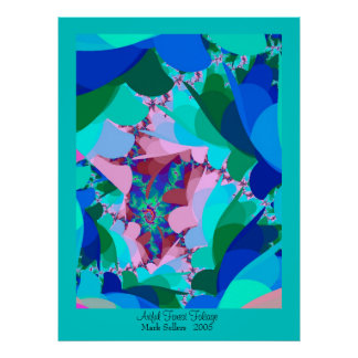 Artful Forest Foliage Poster