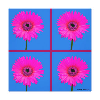 Artful Gerbera Daisy Mosaic Stretched Canvas Print