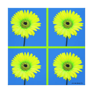 Artful Gerbera Daisy Mosaic Canvas Prints