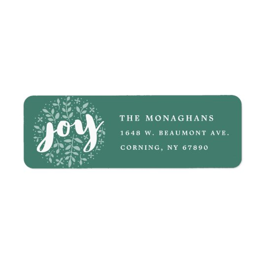 Artful Joy Return Address Labels | Green