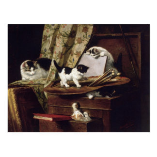 Artful Play by Henriette Ronner-Knip Postcard