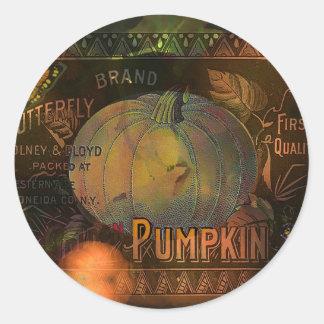 Artful Pumpkins Thanksgiving Classic Round Sticker