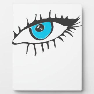 ARTFULL BLUE EYE ART PLAQUE