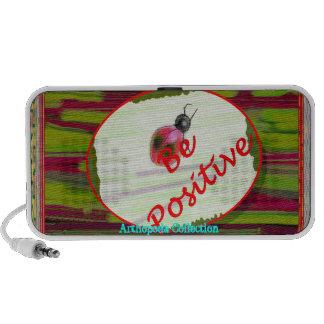 Arthopoda Collection ~ Lady bug (white) Speakers