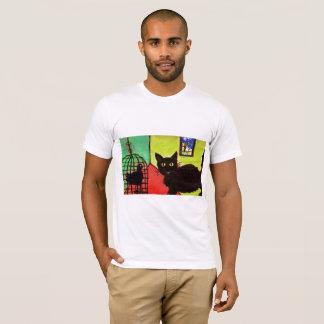 arthouse pet t-shirt  cat with bird