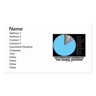 Arthropods Dominate The Animal Kingdom Pie Chart Business Card Templates