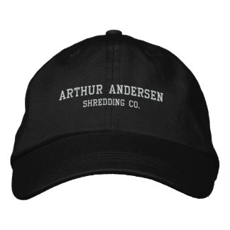 Arthur Andersen, Shredding Co. Embroidered Hat