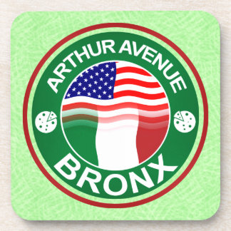 Arthur Ave Bronx Italian American Coaster Set