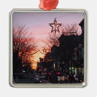 Arthur Ave. Christmas Eve Metal Ornament