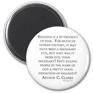 Arthur C Clarke On Religion 6 Cm Round Magnet