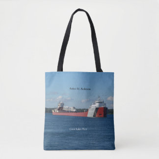 Arthur M. Anderson all over tote bag