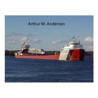 Arthur M. Anderson post card