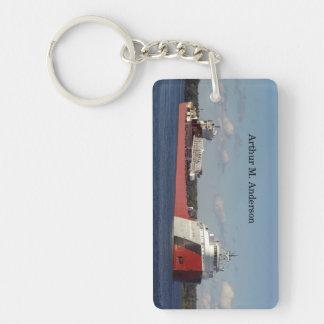 Arthur M. Anderson rectangle acrylic key chain