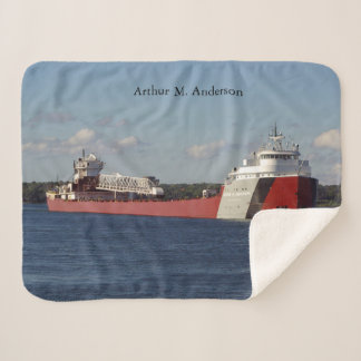 Arthur M. Anderson sherpa blanket