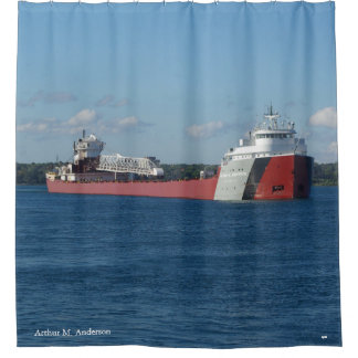 Arthur M. Anderson shower curtain