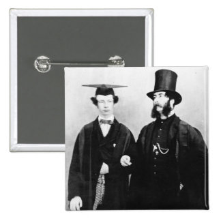 Arthur Munby and his father, c.1851 15 Cm Square Badge