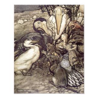 "Arthur Rackham 1907 ""But Who Has Won"" Print Photograph"