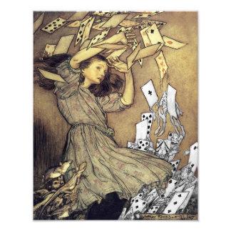 "Arthur Rackham 1907 ""Cards came Tumbling Down Upon Photo Print"