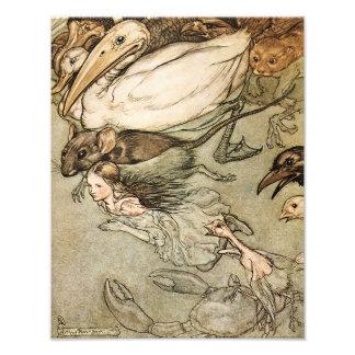 "Arthur Rackham 1907 ""The Pool of Tears"" Print Photographic Print"