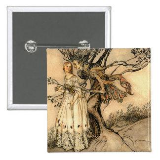 Arthur Rackham - Old Woman in the Wood 15 Cm Square Badge