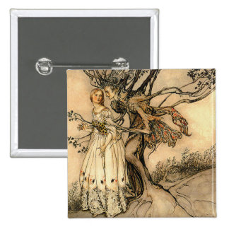 Arthur Rackham - Old Woman in the Wood 15 Cm Square Badge