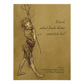Arthur Rackham Puck Lord what fools CC0950 Small Poster