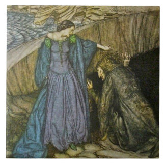 Arthur Rackham Romance of King Arthur Ceramic Tile