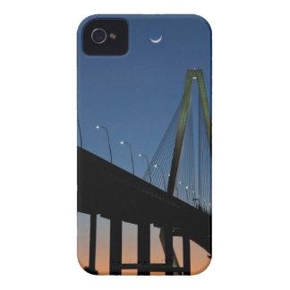 Arthur Ravenel Jr. Bridge at Dusk iPhone 4 Case-Mate Cases