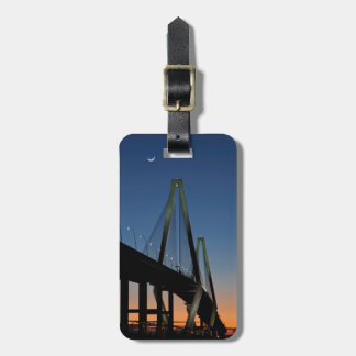 Arthur Ravenel Jr. Bridge at Dusk Luggage Tag