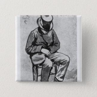Arthur Rimbaud 15 Cm Square Badge