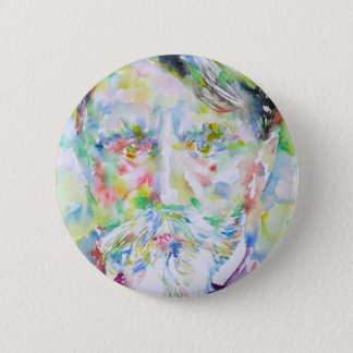 arthur schnitzler - watercolor portrait 6 cm round badge