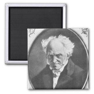 Arthur Schopenhauer Square Magnet