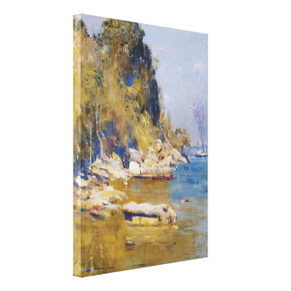 Arthur Streeton - From my camp (Sirius Cove) Canvas Print